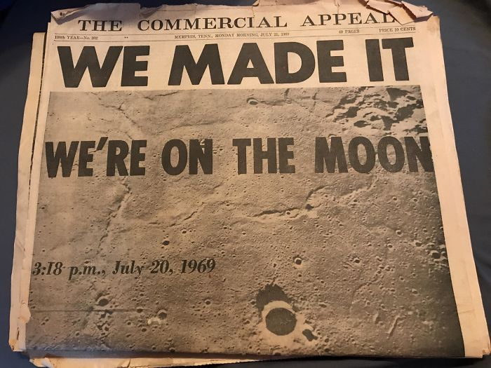 Found Three 1969 Newspapers About The Moon Landing In An Old Chest In The Attic