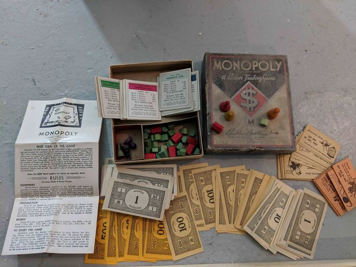 Found An Old Monopoly Set In The Walls Of My 1925 House