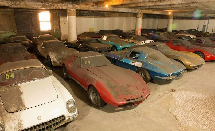 36 Vettes From An 80s Promtional. One From Each Production Year From 1953 To 1989 Found Sitting In A Nearly Abandoned New York City Storage Lot For About 25 Years