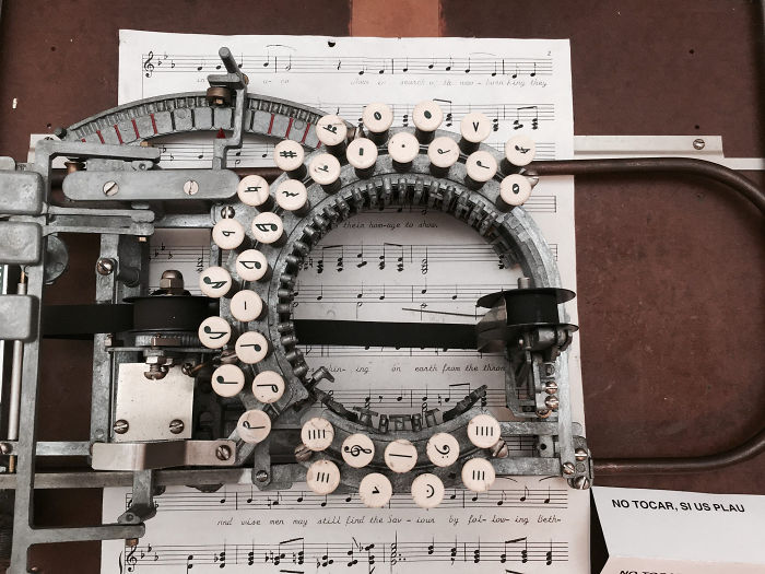 Have You Ever Wondered How Music Was Typed Before Computers? This Rare Vintage Typewriter From The 1950s Lets You Type Sheet Music