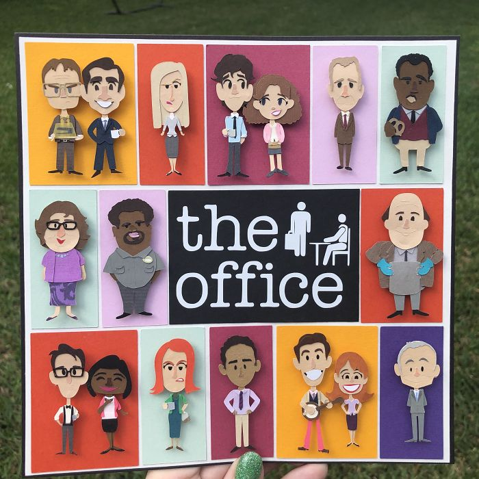 I Made A Teeny Tiny Paper Version Of All The Office Characters Because I Have Time To Kill
