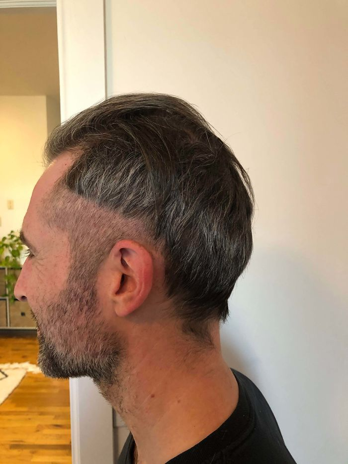 My Husband's Quarantine Haircut...the First Of Many To Come