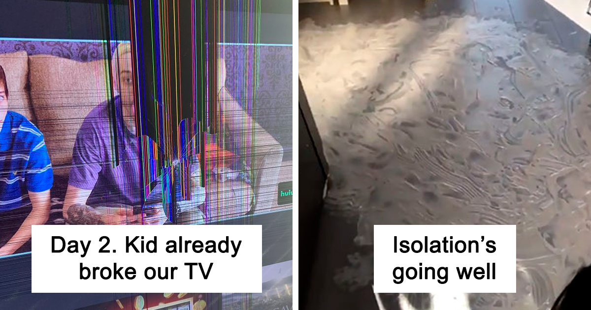30 Funny Pics From Parents Stuck In Quarantine With Their Kids Bored Panda