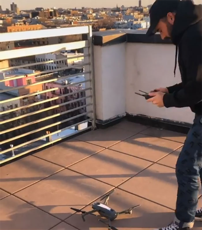 A Guy From Brooklyn Sees A Girl Dancing On A Roof, Sends Her A Drone With His Number On It