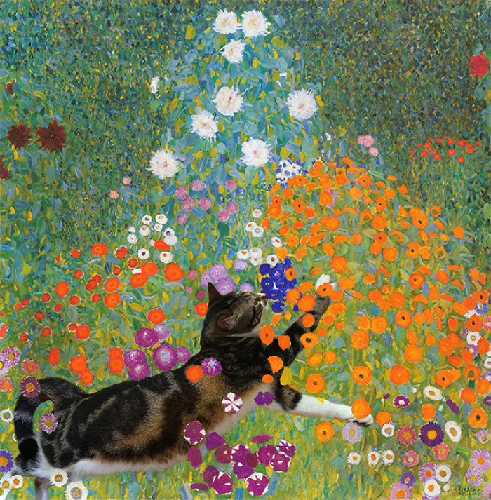 """Cottage Garden"" With Dumpling, Gustav Klimt"