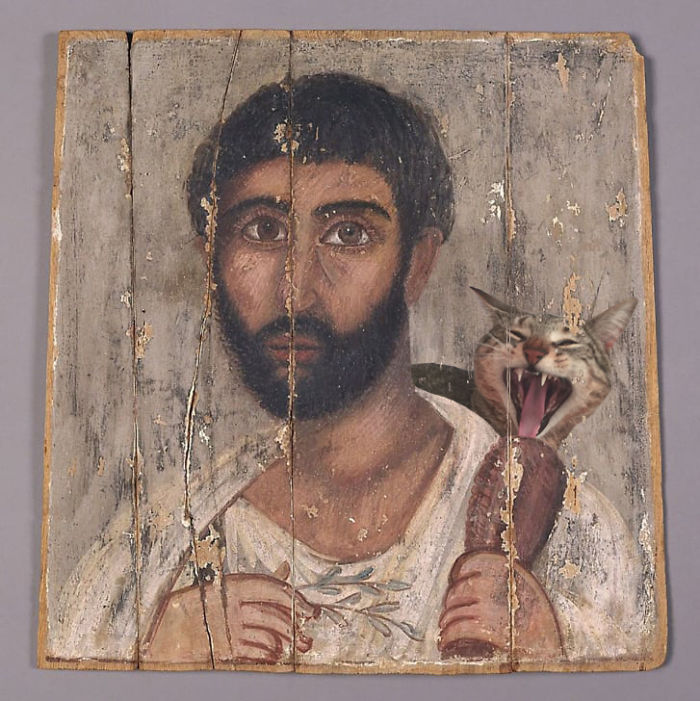"""Portrait Of A Bearded Man From A Shrine"" Holding A Chicken Leg For Giorgio"