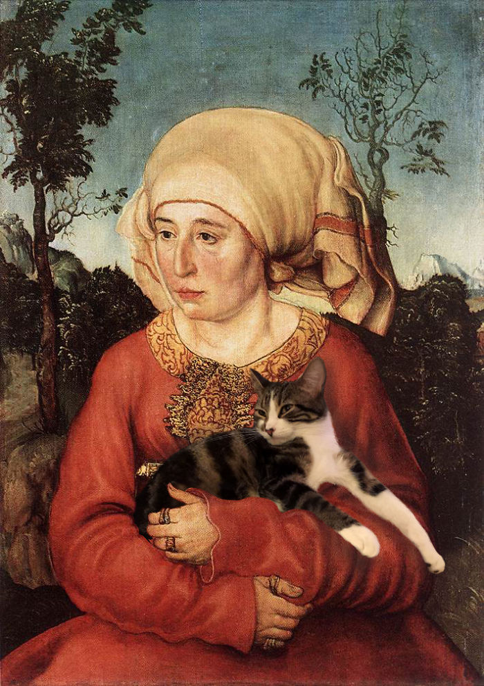 """Wife Of Dr. Johann Stephan Reuss"" With The Dumpling, Lucas Cranach The Elder"