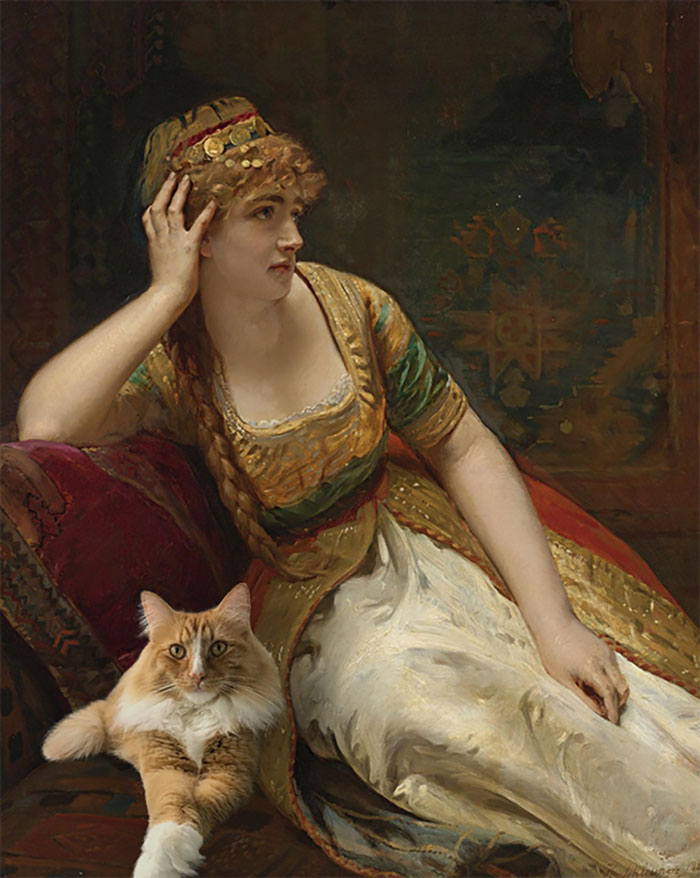 """A Harem Beauty"" With Ginger Snap, Henri Guillaume Schlesinger"