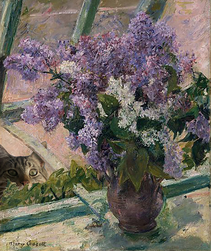 """Lilacs In A Window"" With Giorgio, Mary Cassatt"