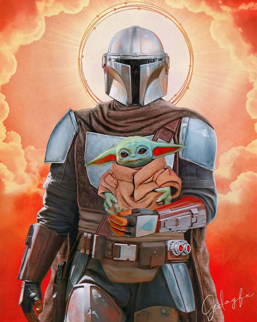 Mando And Baby Yoda