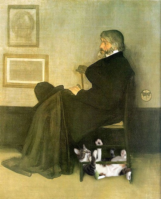 """Arrangement In Grey And Black, No.2: Portrait Of Thomas Carlyle"" With The Dumpling, James Abbott Mcneill Whistler"