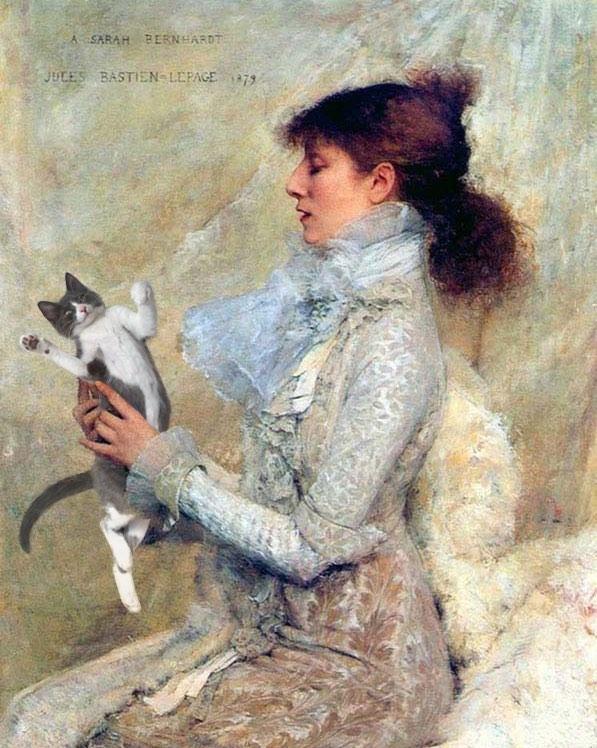 """Sarah Bernhardt"" With Moochie, Jules Bastien Lepage"