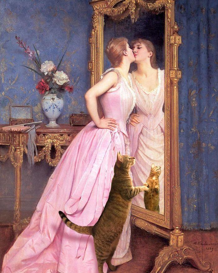 """Vanity"" With Giorgio, Auguste Toulmouche"