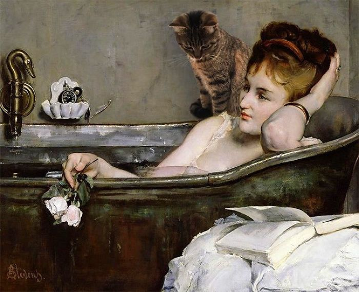 """The Bath"" With Beezie, Alfred Stevens"