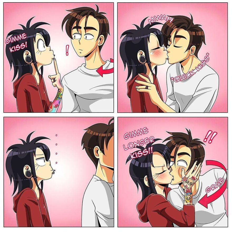 When I Want A Kiss, I Want A Big Kiss