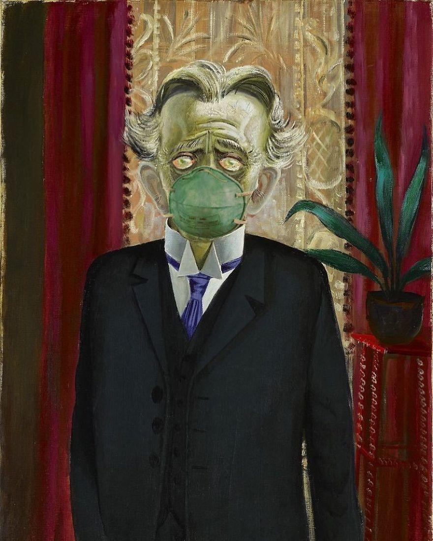 Portrait Of Dr Heinrich Stadelmann By Otto Dix, 1922