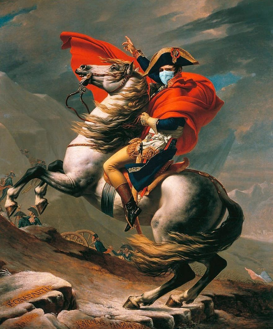 Tallenge Napoleon Crossing The Alps By Jacques Louis David, 1801-1805