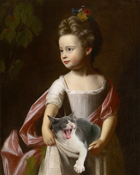 """Little Girl With Grapes"" And Moochie, John Singleton Copley"