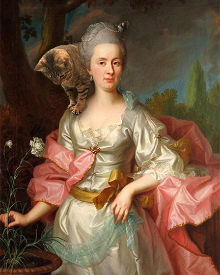 """Catherine Augusta Lerber Sturler"" With Giorgio, Jakob Emanuel Handmann"