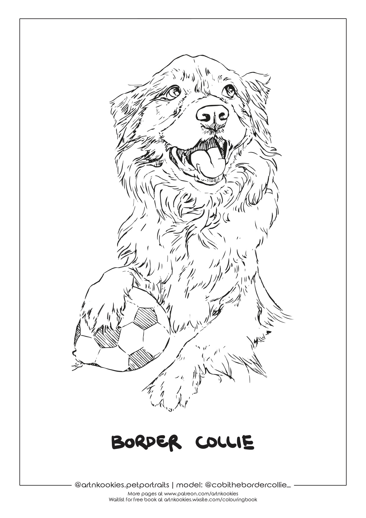 I'm Making Free Colouring Pages Of Your Best Furriends (Send Me Your Dog Pics)
