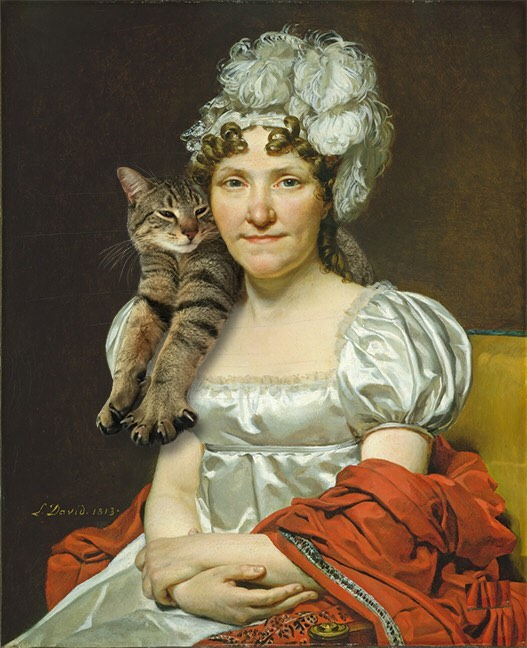 """Madame David"" With Giorgio, Jacques Louis David"
