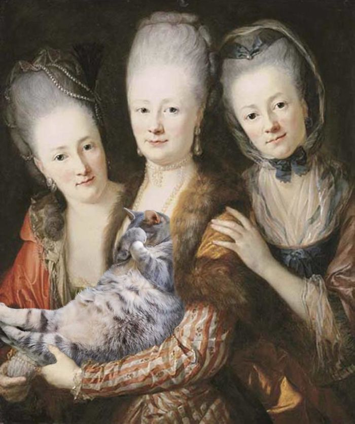 """Portrait Of The Three Daughters Of Julius Johann Von Vieth Und Gossenau"" With Lawrence, Anton Graff"
