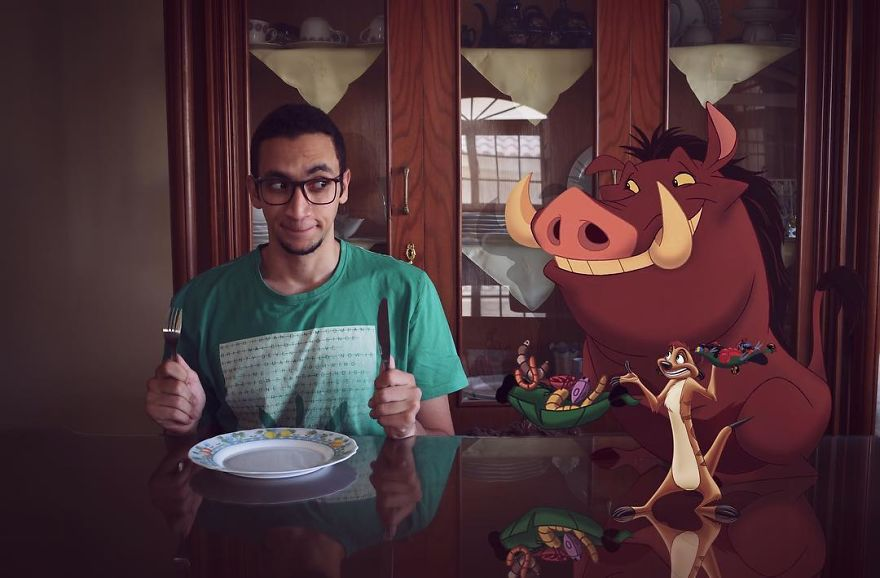 Egyptian Young Man Creates Funny Encounters With Superheroes, Characters And Celebrities