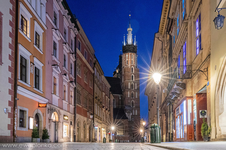 Empty Krakow Old Town During Coronavirus Pandemic