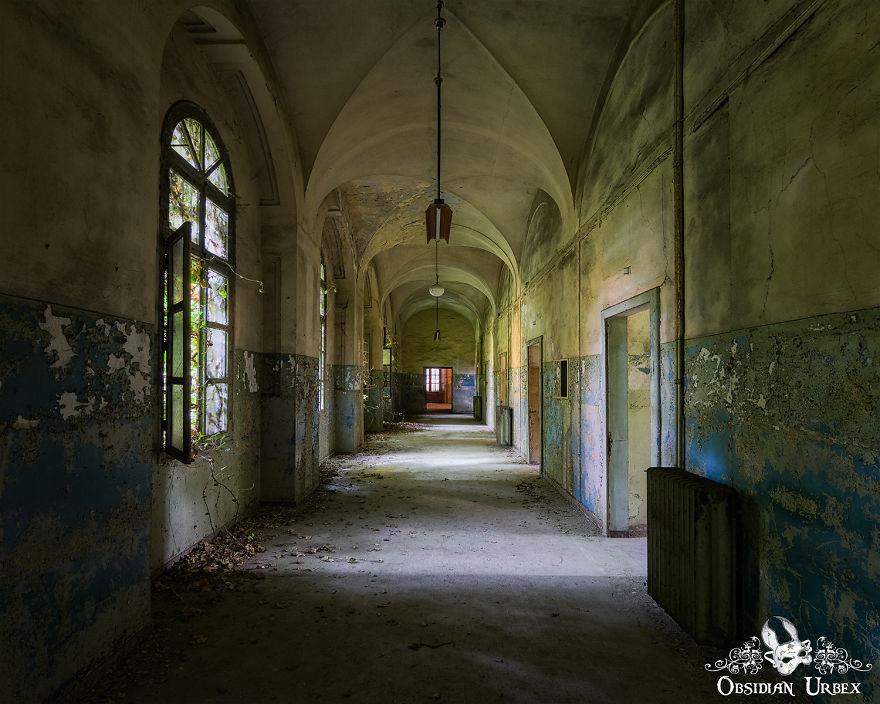 Corridor With Peeling Paint