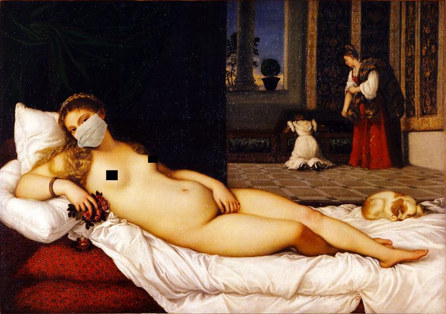 Venus Of Urbino By Titian, 1534