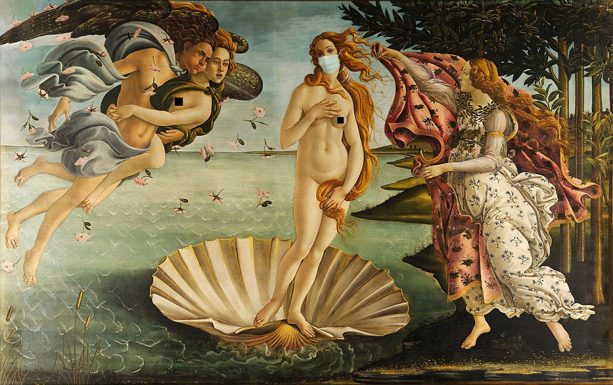 Birth Of Venus By Sandro Botticelli, 1485-1486