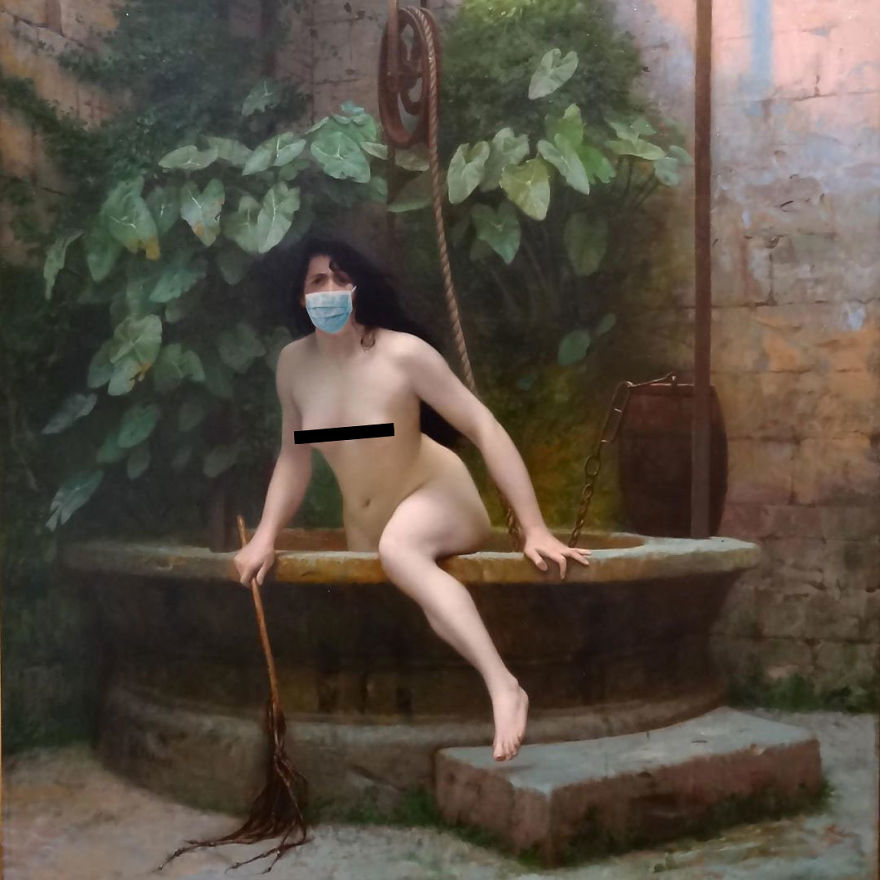 Truth Coming Out Of Her Well By Jean-Léon Gérôme, 1896