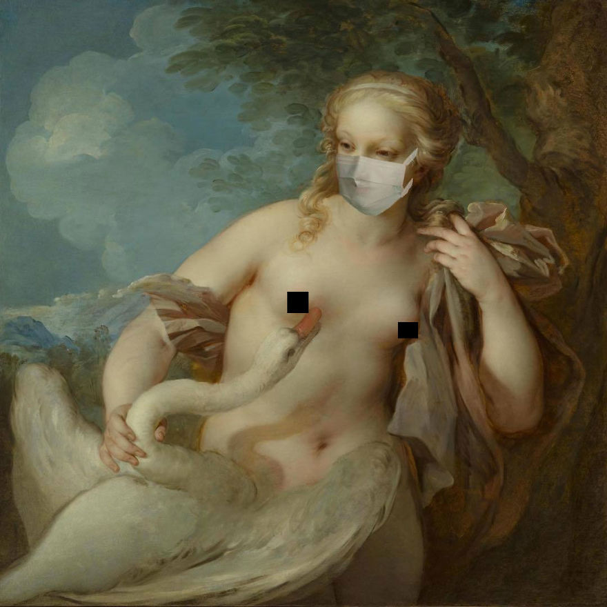 Leda And The Swan By François Le Moyne, 1720