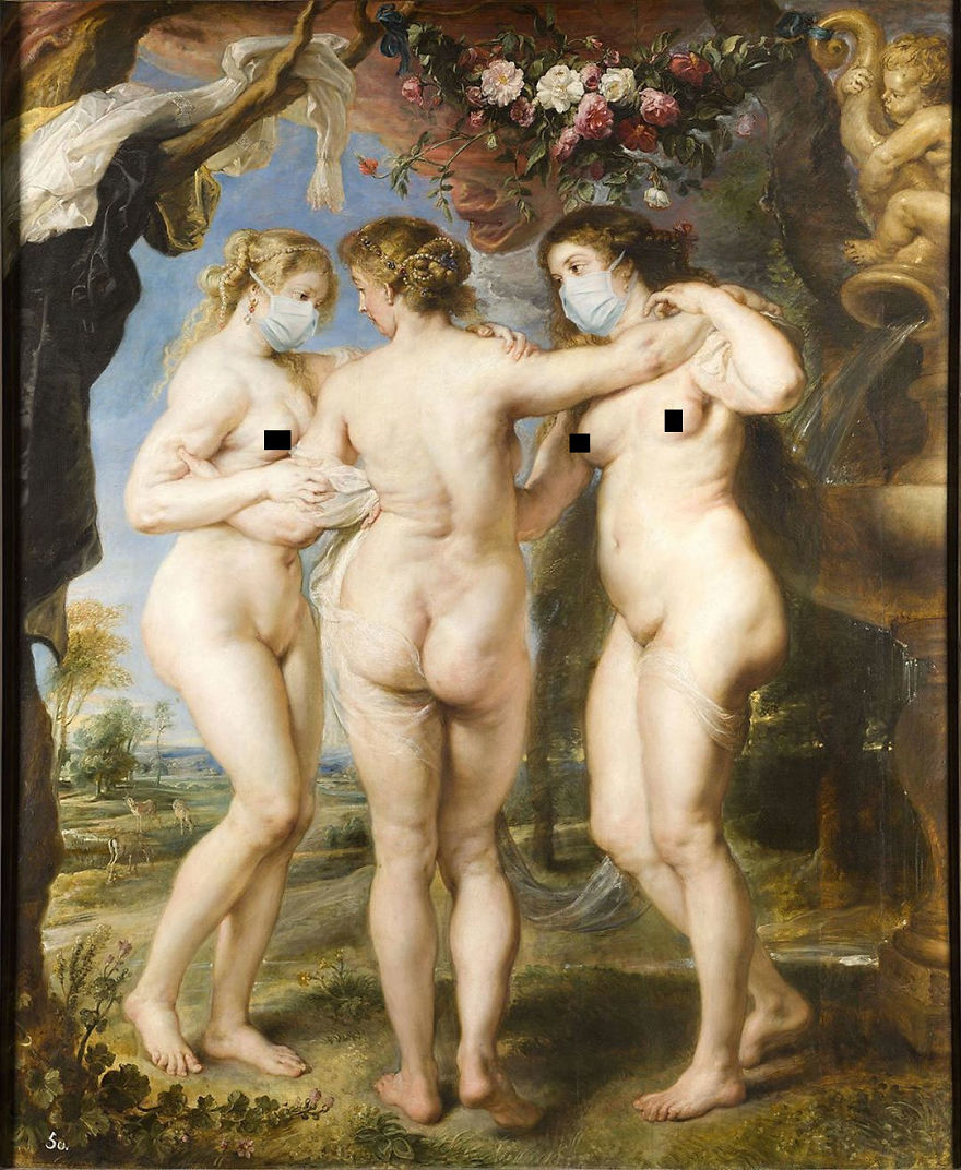 The Three Graces By Peter Paul Rubens, 1666