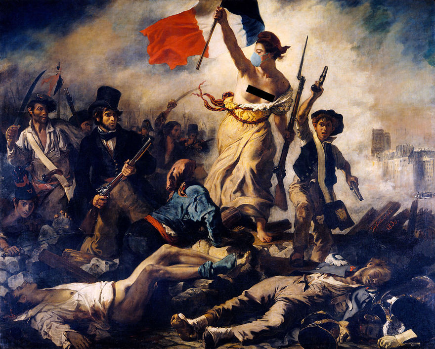 Lady Liberty Leading The People By Eugène Delacroix, 1830