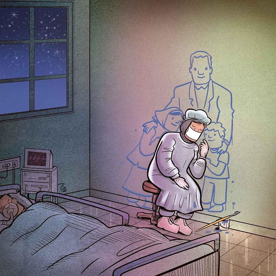 Iranian Artist Makes Impactful Cartoons To Reflect On The Coronavirus