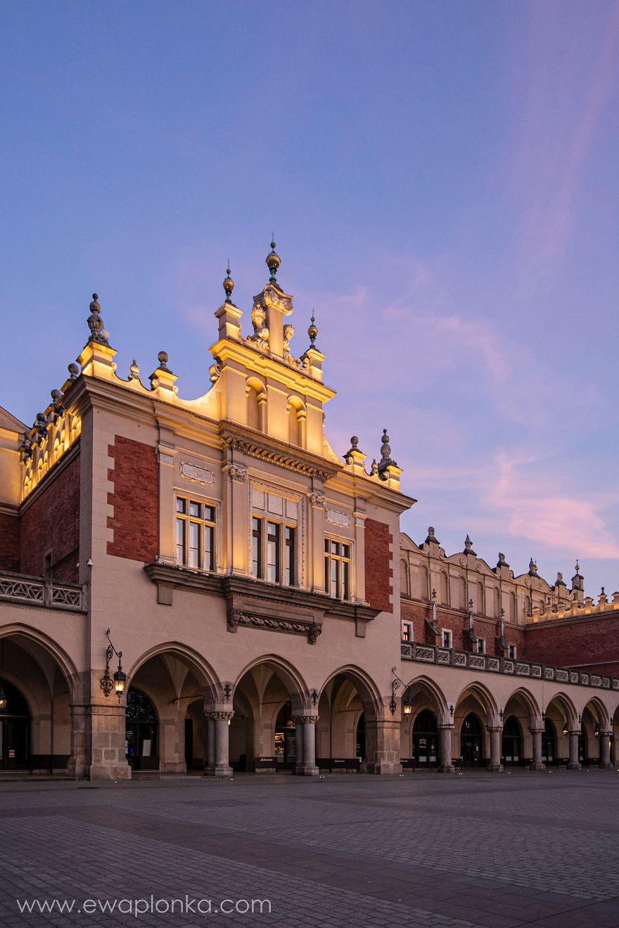 Empty Krakow Old Town During Coronavirus Pandemic