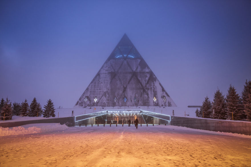 I Visited Nur-Sultan - The Cosmic Capital City Of Kazakhstan During Foggy Winter Time And I Felt Like I Landed On The Other Planet.