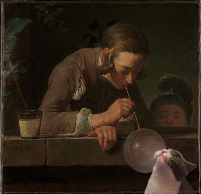 """""""Bubbles"""" With Moochie, Jean Siméon Chardin"""