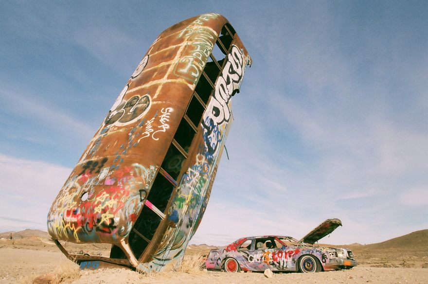 The International Car Forest Of The Last Church, Goldfield, Nevada