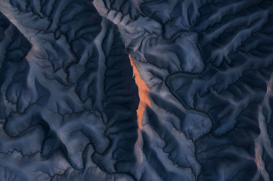 First Light Hitting Abstract Erosion