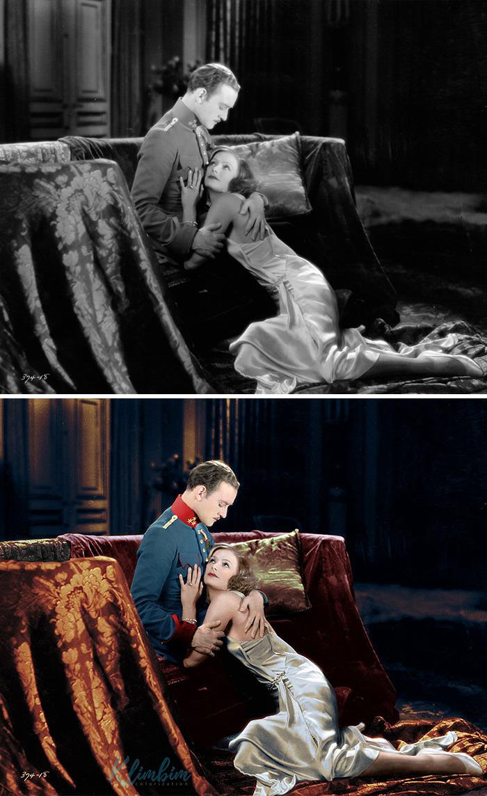 Greta Garbo & Robert Taylor