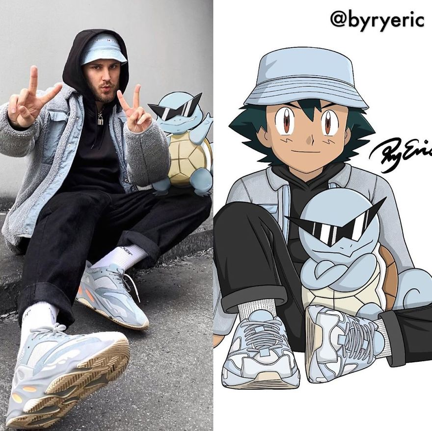 Ash And Squirtle From Pokemon