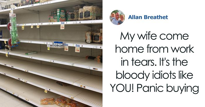 Husband Rips Apart Panic Buyers In A Powerful Facebook Post After His Wife Came Back From Work In Tears