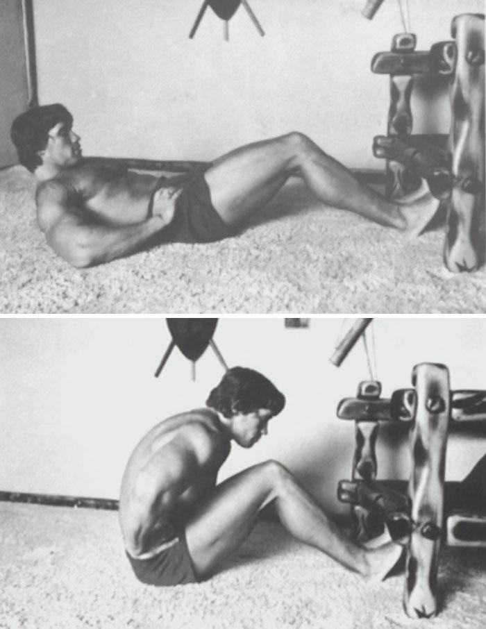 Arnold Schwarzenegger Shared Vintage 1977 Photos Of Himself Illustrating His Iconic 9-Step No-Gym Workout