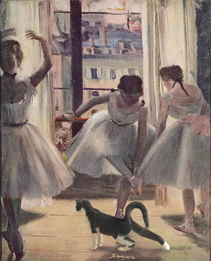 """Three Dancers In An Exercise Hall"" And Moochie, Edgar Degas"