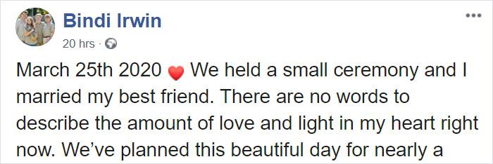 Bindi Irwin Gets Married At Her Late Dad's Empty Zoo Just Hours Before Coronavirus Lockdown