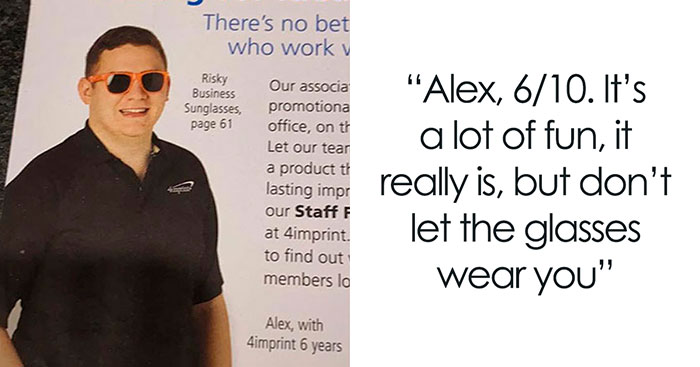 Guy Posts Hilarious Ratings After Noticing That A Company Used Employees As Models