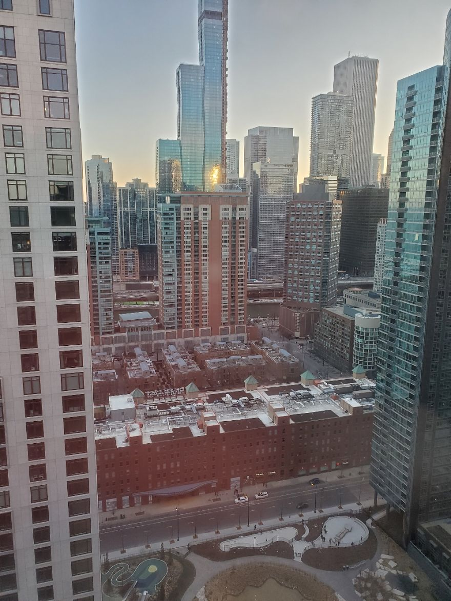 View From My Window. Streeterville Chicago, Il