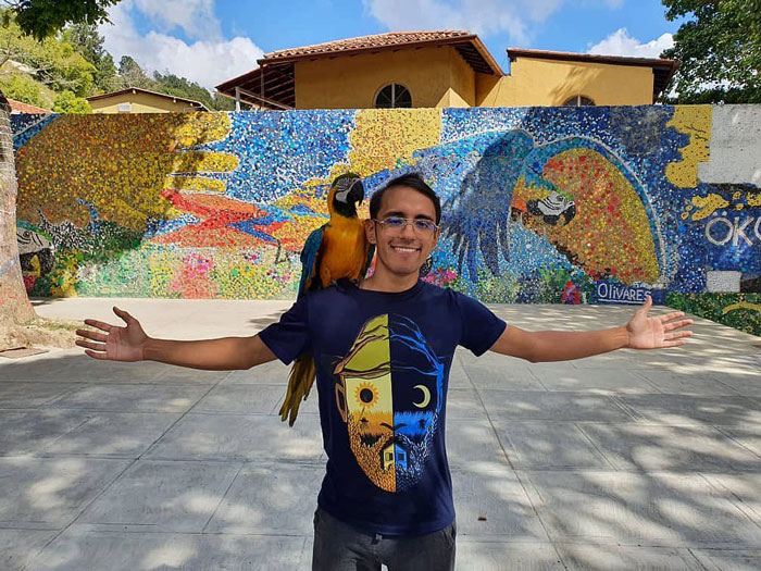 Artist Uses 200k Recycled Bottle Caps To Create Venezuela's First Eco-Mural